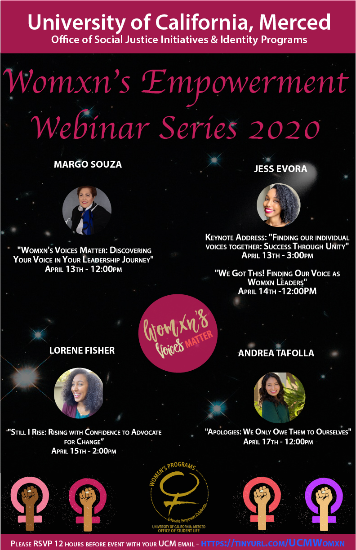 Womxn's Empowerment Webinar Series 2020 Flyer